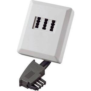 922660 Telefon (analog) Adapter [1x TAE-F-Stecker - 1x TAE-NFN-Buchse] 0.20m Weiß